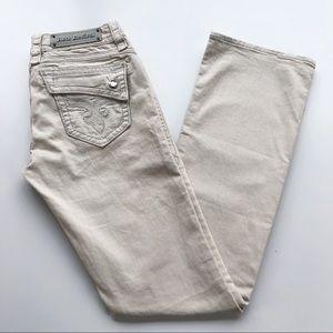 Rock Revival Johanna Boot Jeans Ivory Cream Rodeo